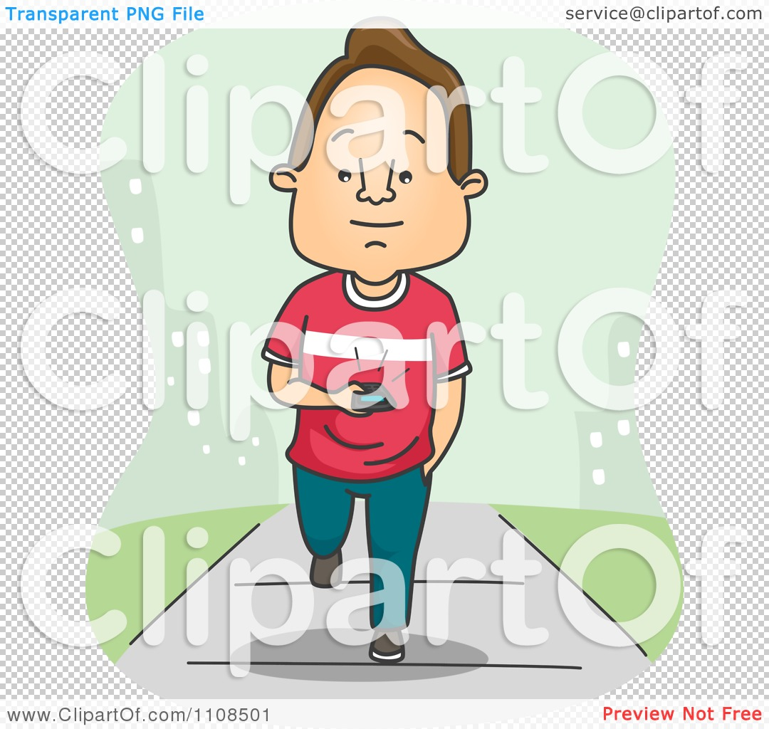 275 Texting free clipart.