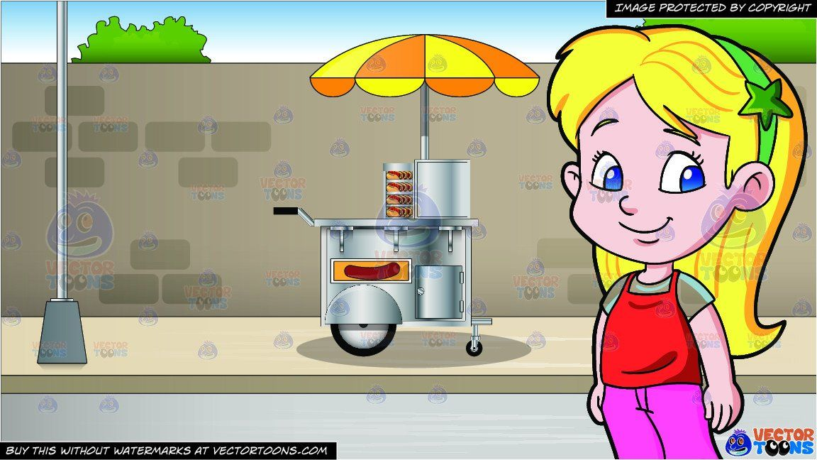 clipart #cartoon An Adorable Female Preschooler Looking.