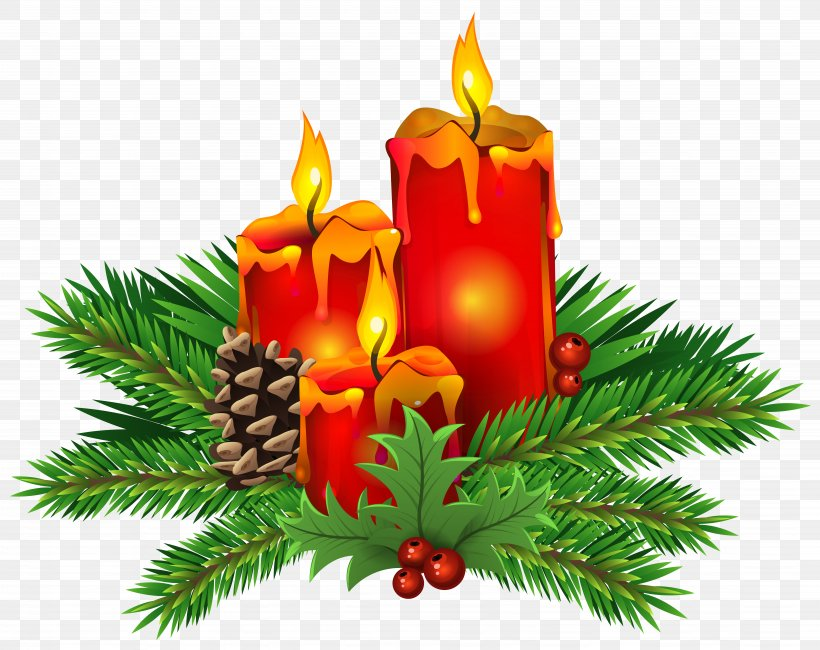 Christmas Day Candle Clip Art, PNG, 7183x5700px, Christmas.