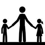 Single Parent Family Portrait Stock Illustrations.