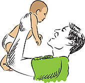 Single Parent Smile Clip Art.