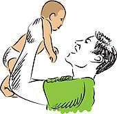 Single Parent Smile Clip Art.