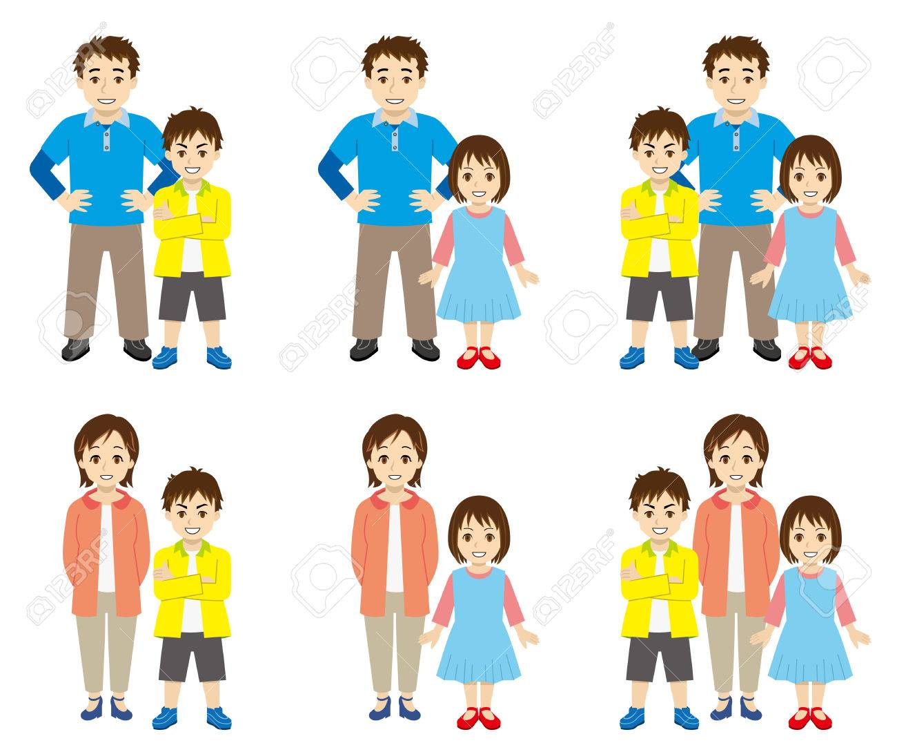 Single Parent Family Royalty Free Cliparts, Vectors, And Stock.
