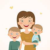 Single Parents Clip Art.
