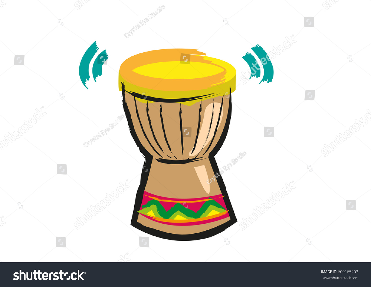 Djembe Jembe Mali Skin Drum Abstract Stock Vector (Royalty Free.