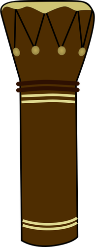 Vector illustration of skin covered African drum.