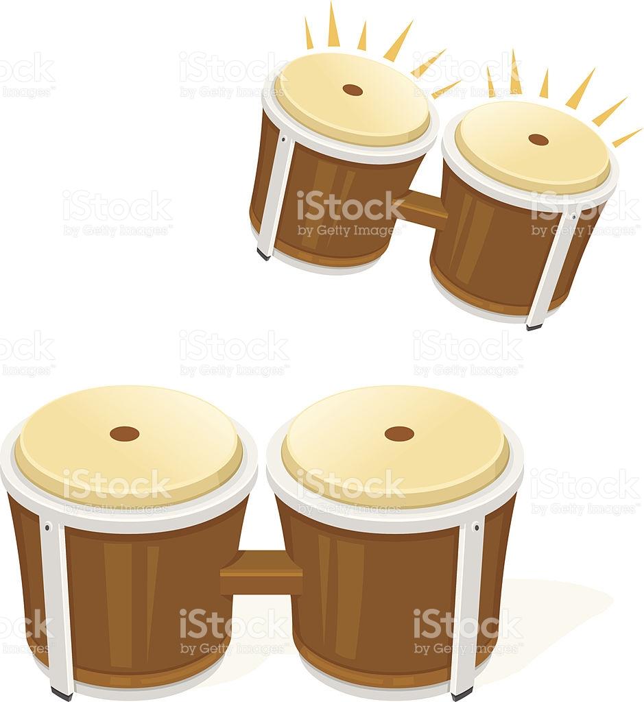 Bongo Drums Musical Instrument stock vector art 468441859.
