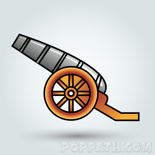 How To Draw A Cannon.