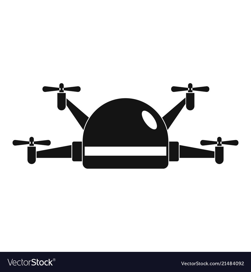 Small drone icon simple style.