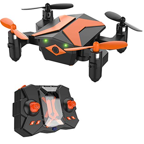 Mini Drone for Kids, RC Helicopter Portable Foldable Drone for Beginners RC  Quadcopter w/One Key Take Off, Headless Mode, Altitude Hold, 3D Flip,.