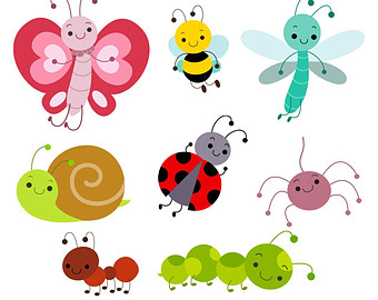 Bugs and insects clipart.