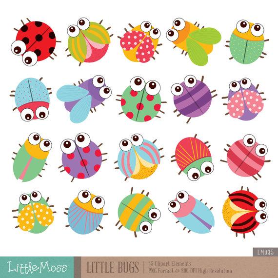 Little Bugs Clipart by LittleMoss on Etsy.