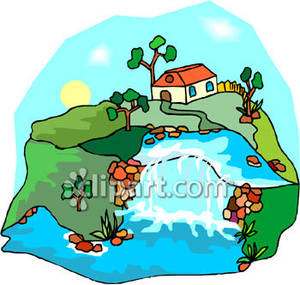 Small_Waterfall_Royalty_Free_Clipart_Picture_090127.