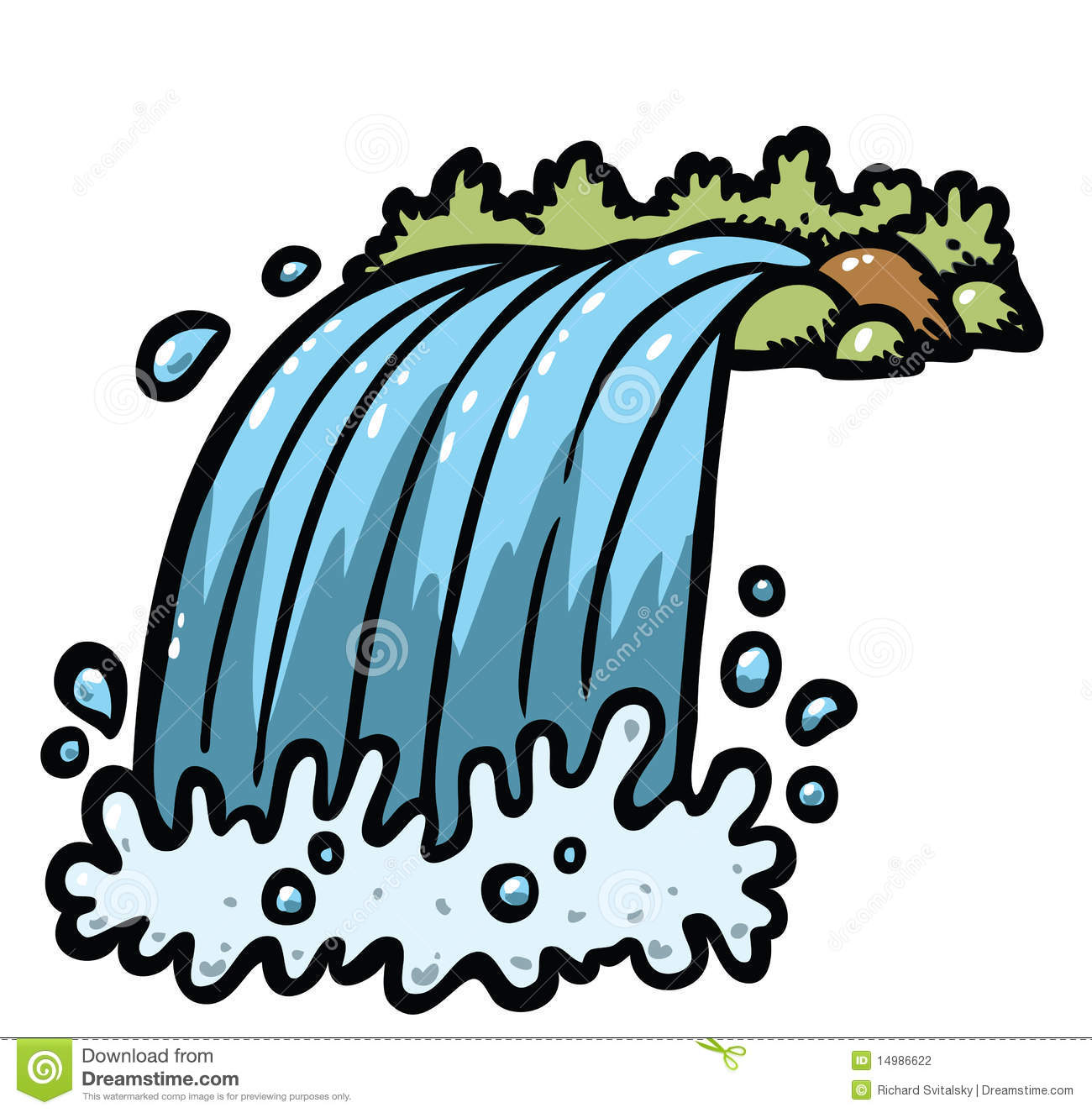 Waterfall clipart png.