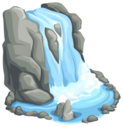 Waterfall PNG Clip Art.