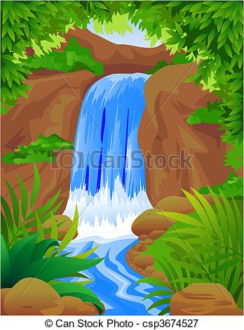 Vectors Illustration of Water fall.
