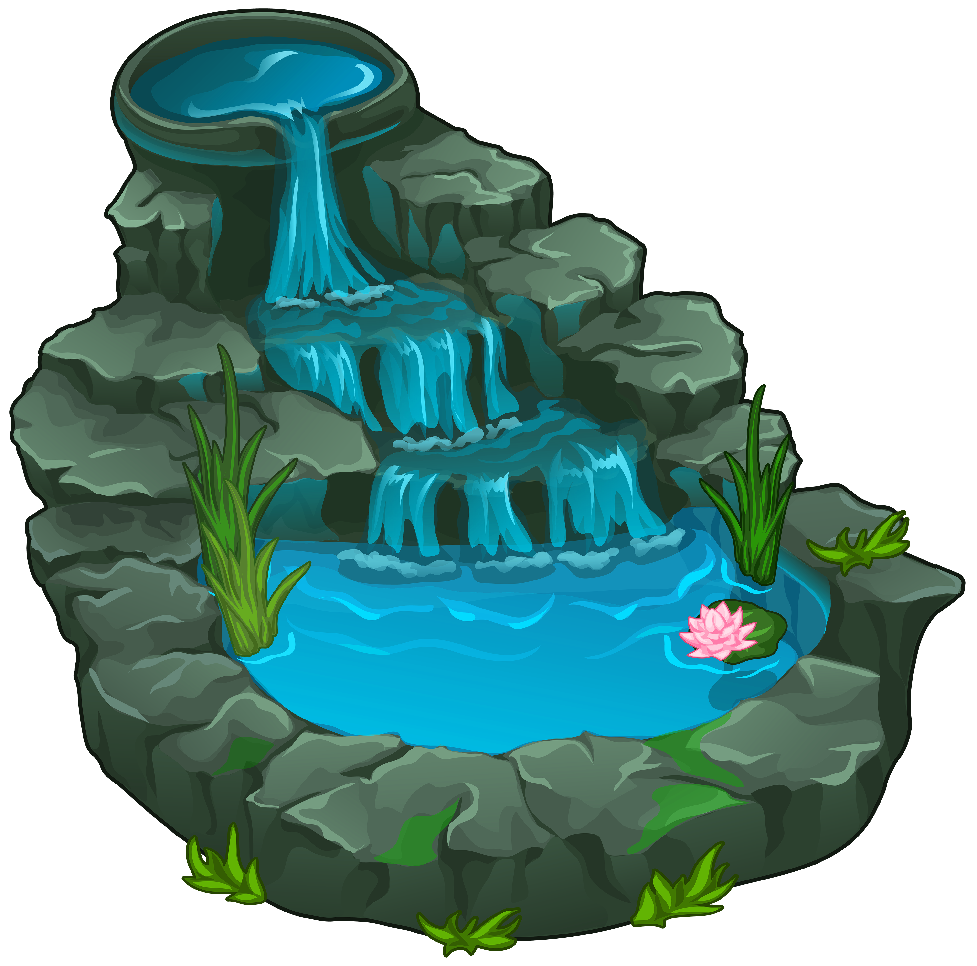 Waterfall PNG Clipart.