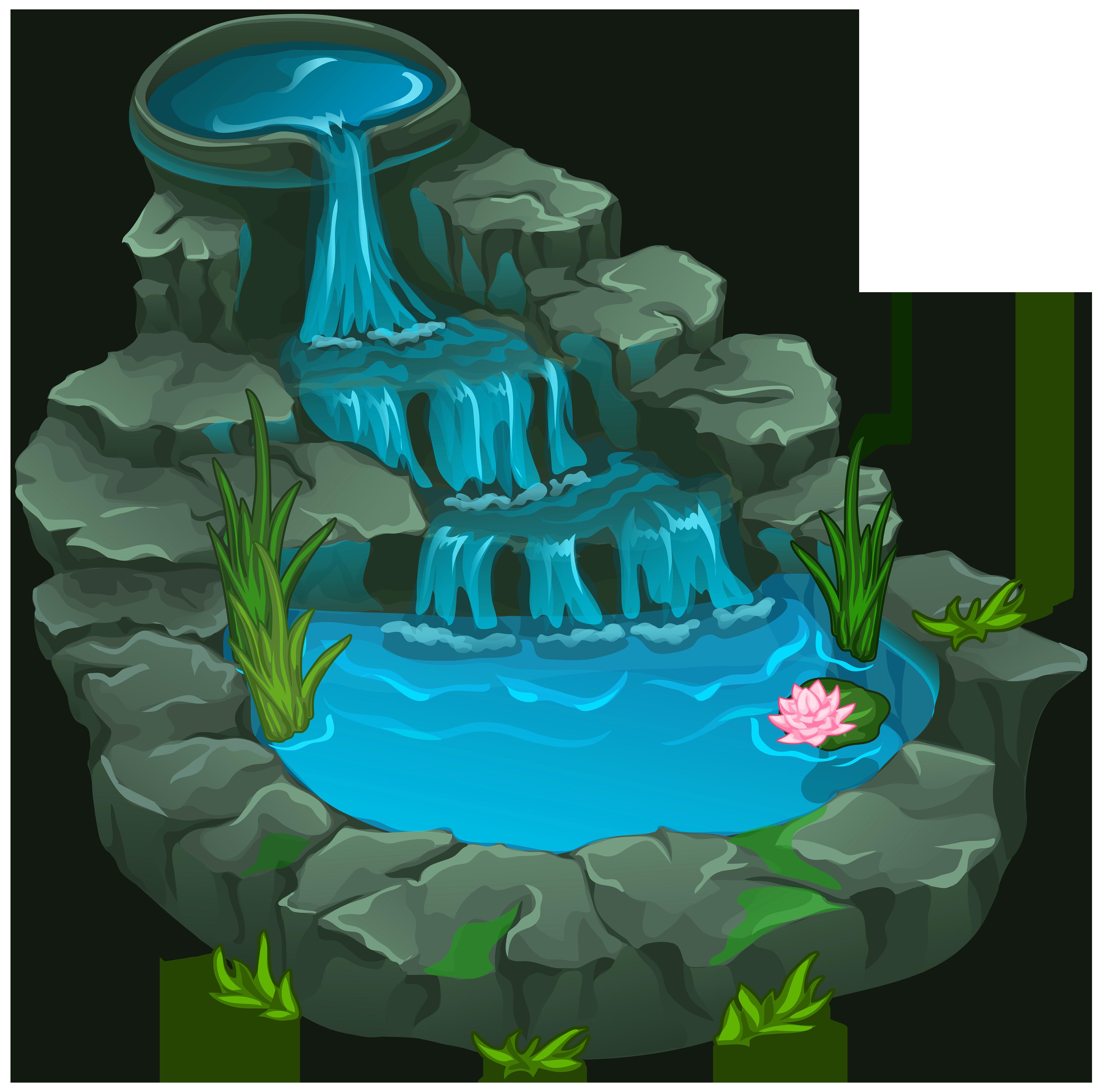 fountain pond clipart clipground waterfowl clipart waterfall clipart black adn white