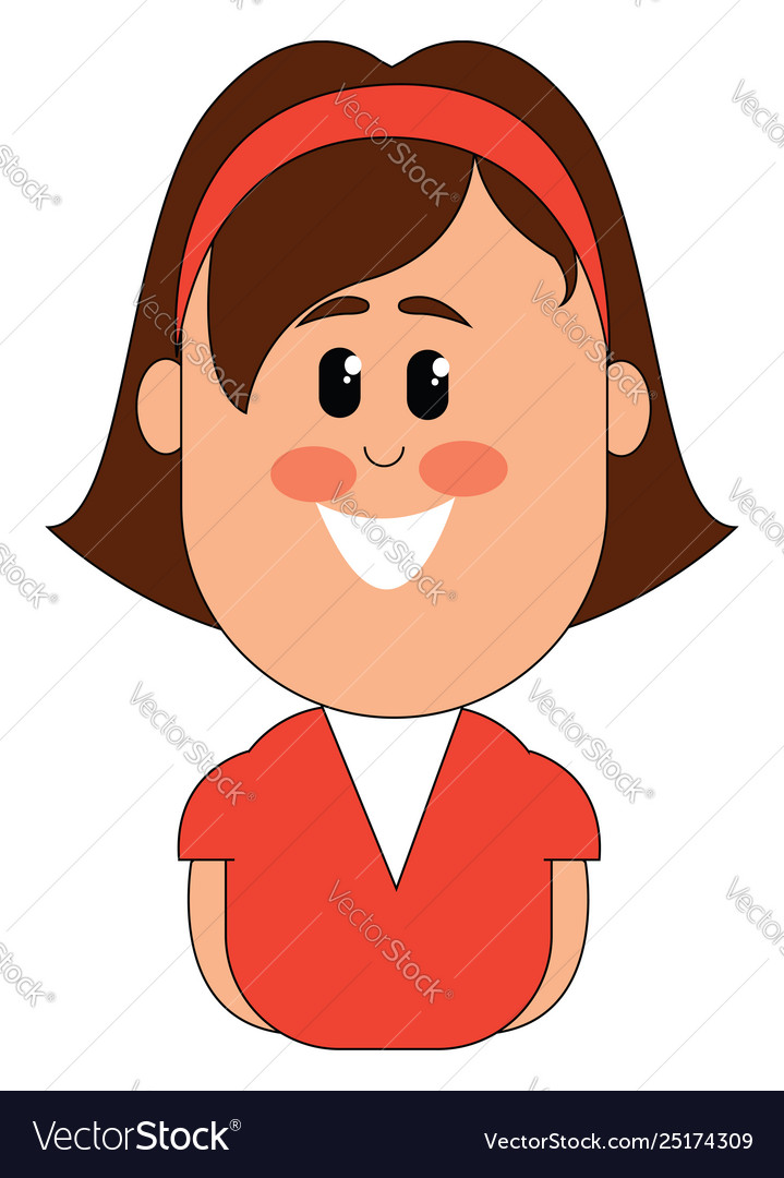 Clipart a smiling small girl or color.