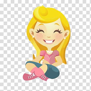 Smile Girl, girl smiling emoji transparent background PNG.