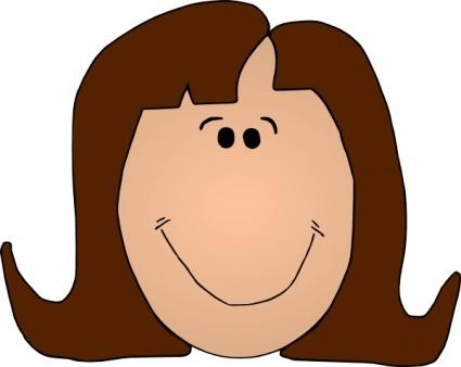 Smiling Person Clip Art.