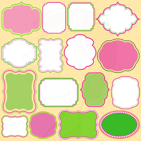 Flower clipart border solid color.