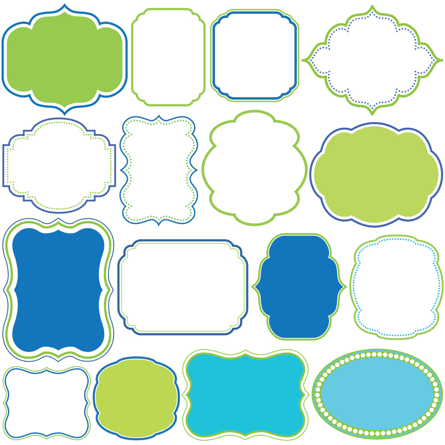 Solid blue clipart border.