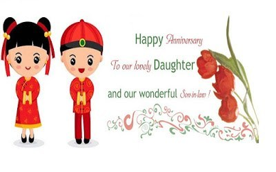 Best Anniversary Wshes To Daughter And Son In Law.