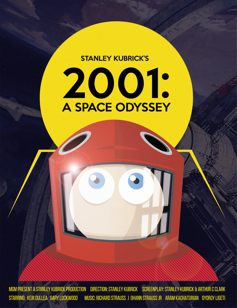 Poster tributo 2001: A Space Odyssey.