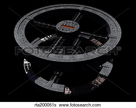 Stock Illustration of Space station from 2001: A Space Odyssey.