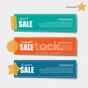 Cute note papers with sale promotion. Clipart Image.