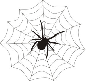 Corner spider web clipart free clipart images 2.