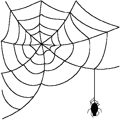 Leaf and spider web clipart #8
