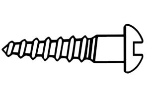 Screw Outline Clip Art at Clker.com.