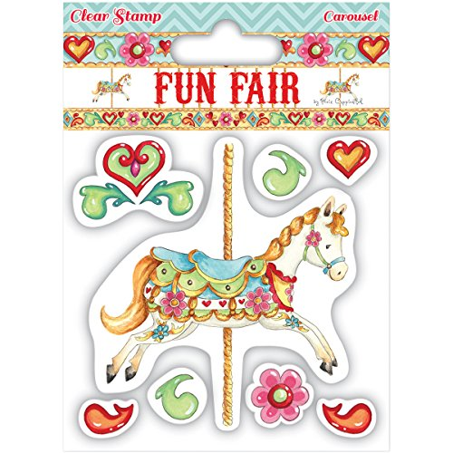Amazon.com: Trimcraft Helz Fun Fair Character Stamp Set, Carousel.