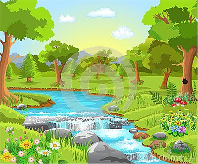 Nature clipart spring water, Nature spring water Transparent.