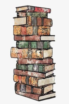 A Pile Of Books, Hand Painted Cartoon, Books, Pile PNG.