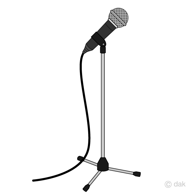 Free Microphone Stand Clipart Image|Illustoon.