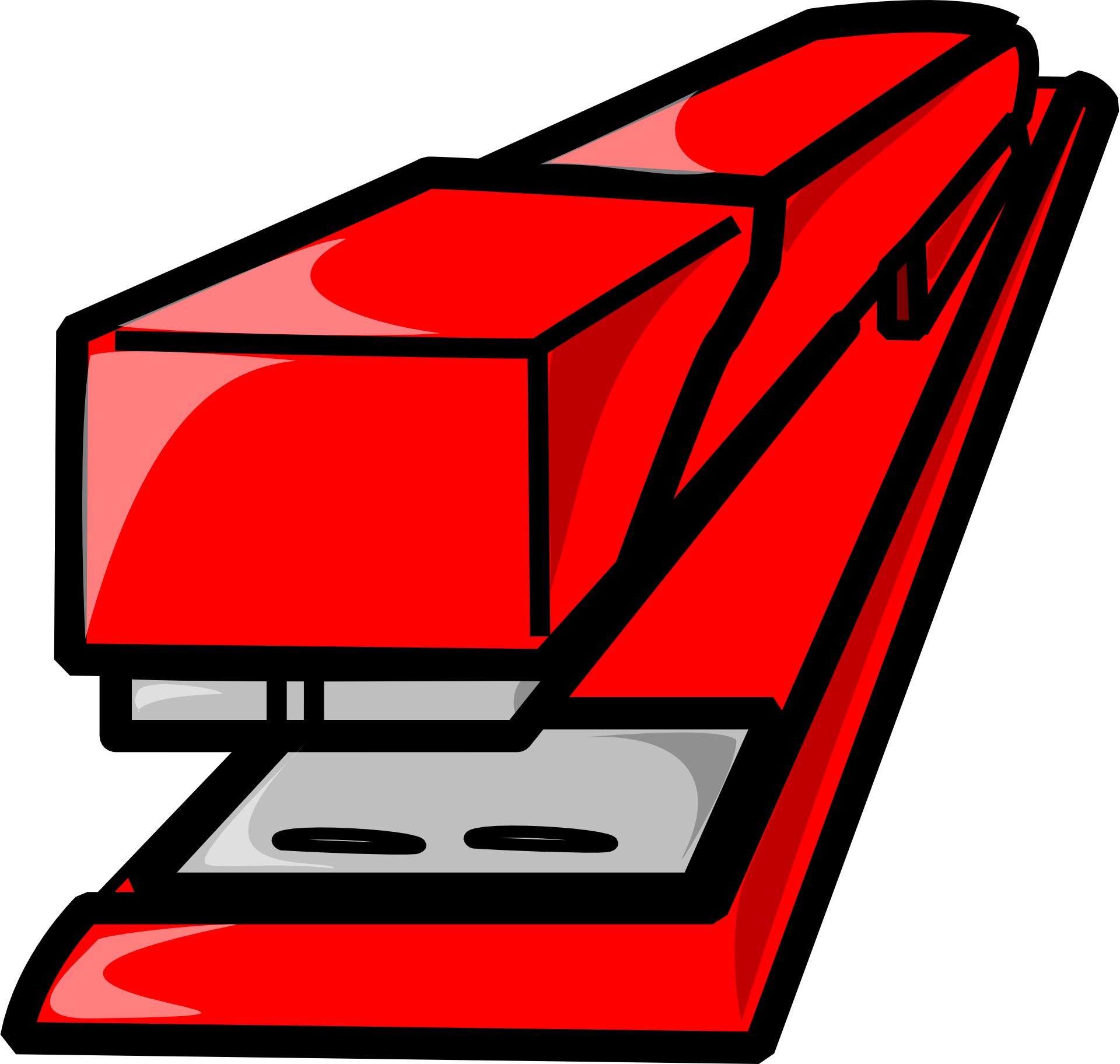Clipart,drawn red stapler free image.