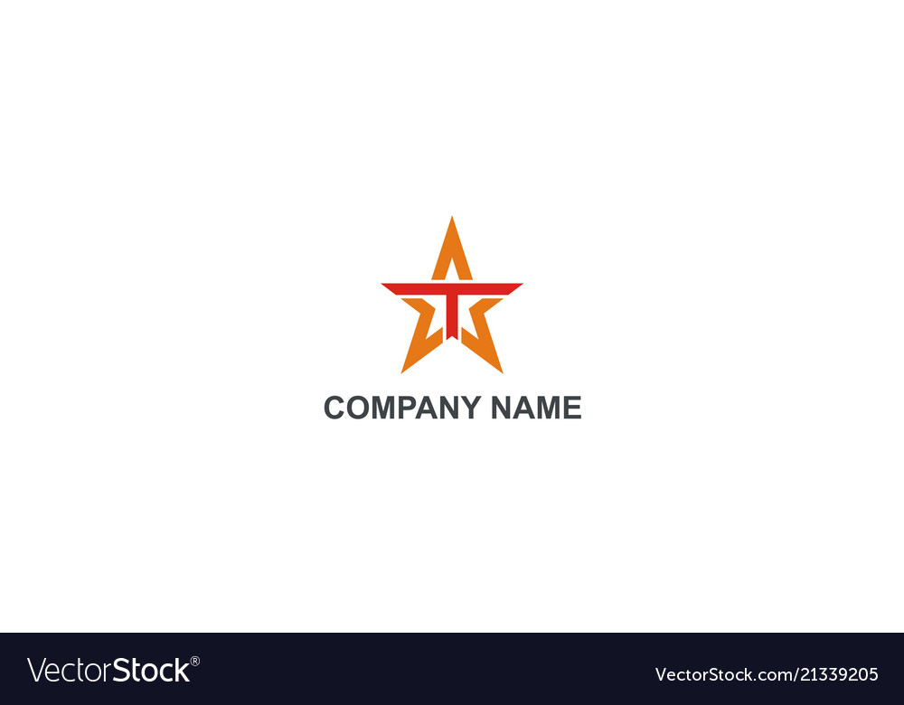 Star letter t abstract company logo.