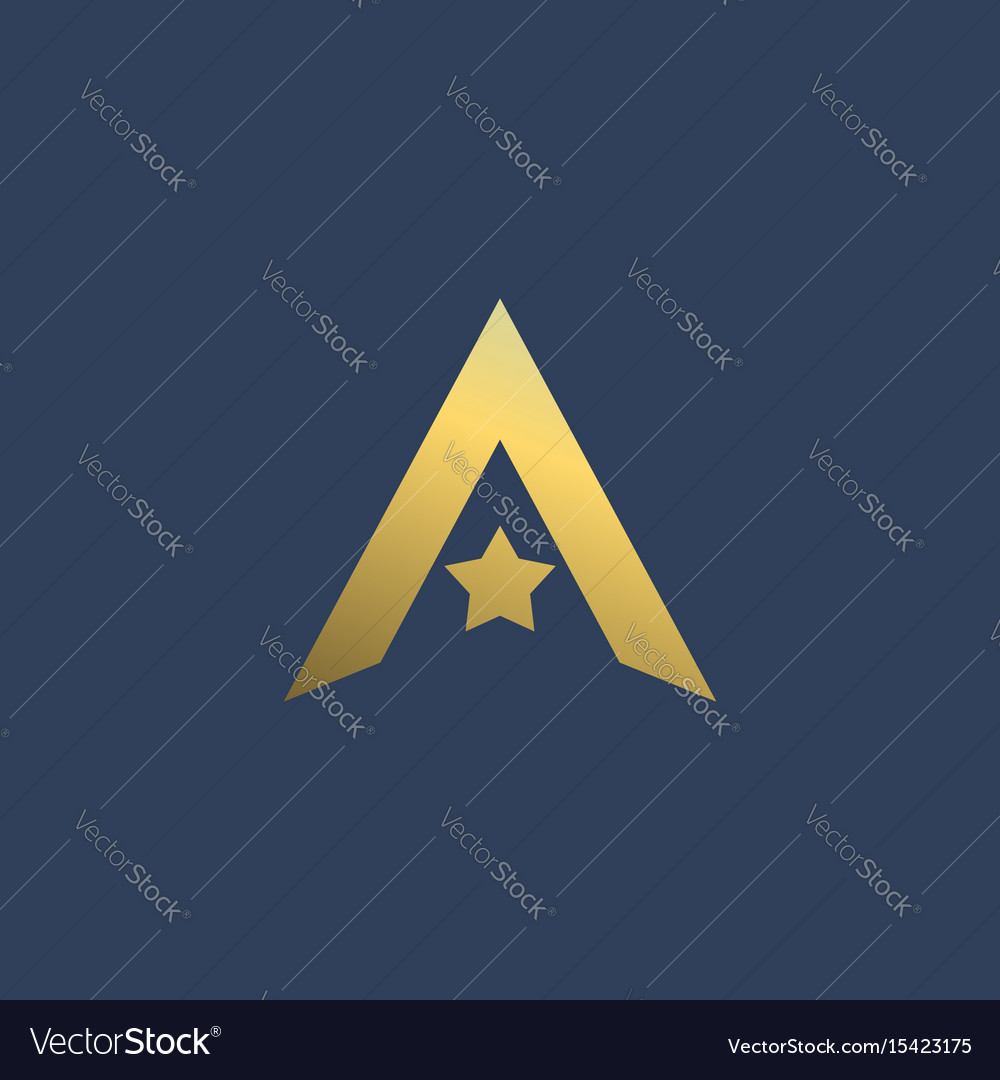 Letter a star logo icon design template elements.
