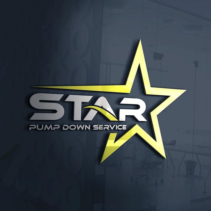 Design a high end Star logo for Star Pump Down.