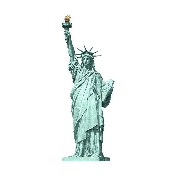 Replicas of the Statue of Liberty clipart / Free clip art.