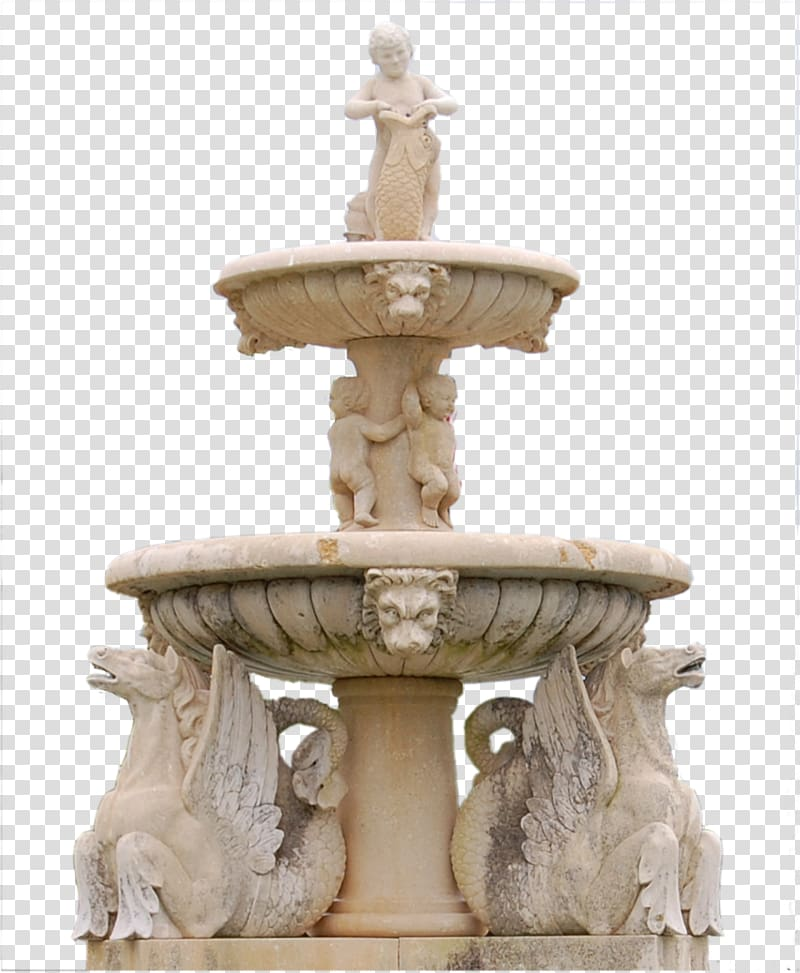 Fountain Garden, Design stone altar transparent background.