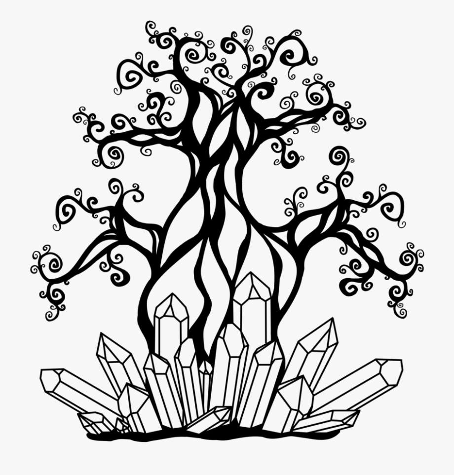 Rfts Tree & Crystals Logo.