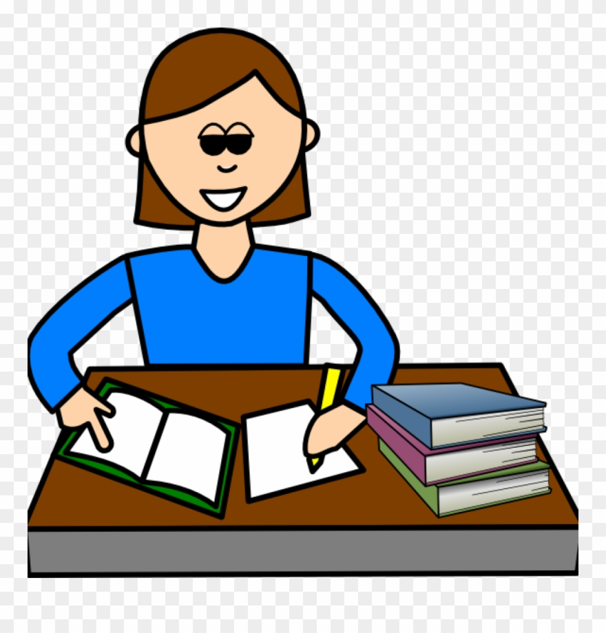 Student Studying Science Clipart.