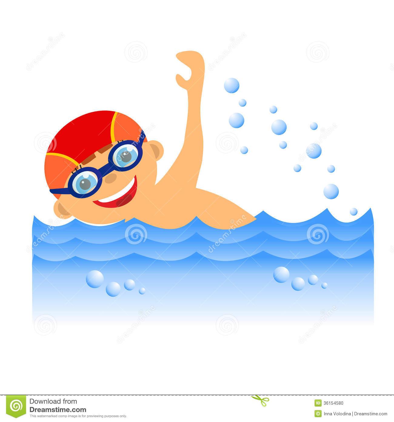 Swim Strokes Clipart.