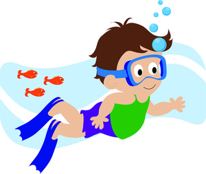 free clipart boy swimming #19