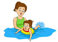 clipart people swimming #16