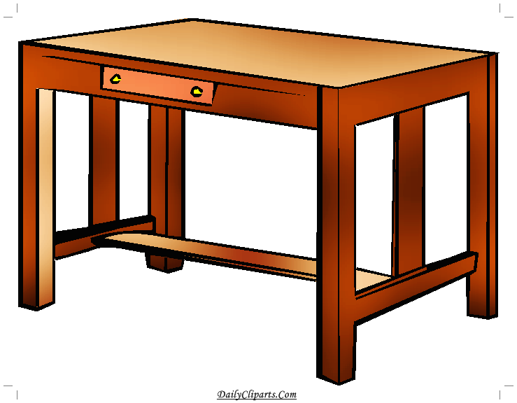 Study Table Clipart Image.